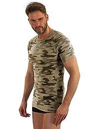 Sesto Senso Camiseta Térmica Camo Manga Corta/Larga Hombre Militar