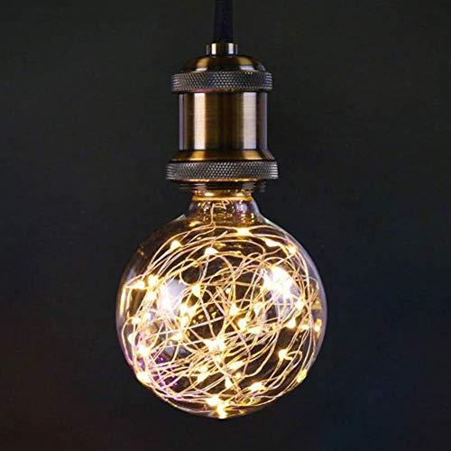 LED Glühbirne, E27 Kupferdraht Vintage LED Birne, 3W 300lm Warmweiß Kreative Lichterkette, dekorative Beleuchtung für Hauscafés Party Urlaub Hochzeit, nicht dimmbar -