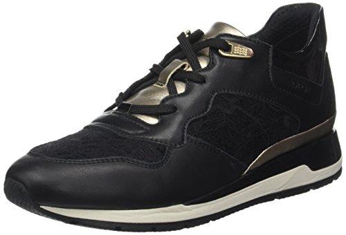 Geox Damen D Shahira B Sneaker, Schwarz (Black), 39 EU (Geox-schnür-sneakers)
