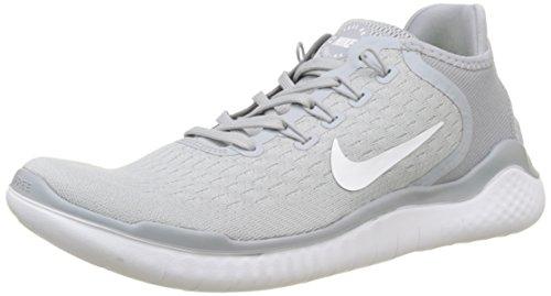 Nike Free RN 2018, Herren Fitnessschuhe, Grau (Wolf Grigio/Bianco/Volt Verde 003), 42 EU (7.5 UK)