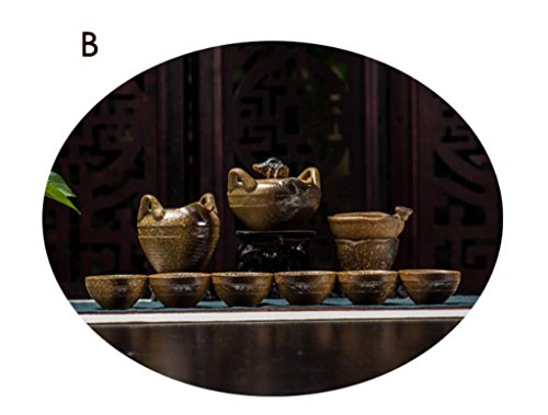 Dehua China Ceramics Steinzeug Keramik Brennofen in China Kung Fu-Tee-Set 9er Pack , b models