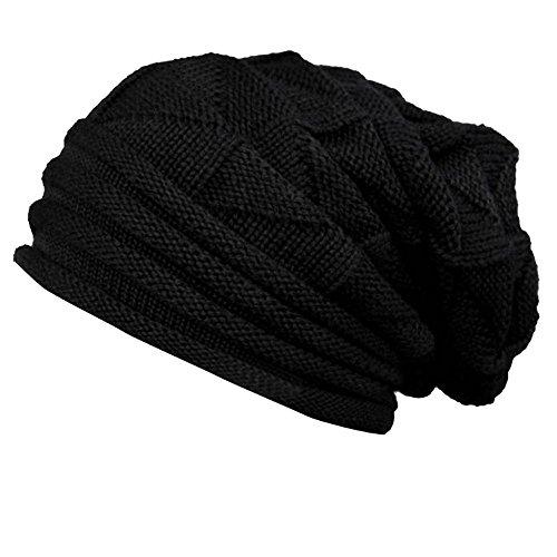 n Hut, Zolimx Damen Wolle Strickmütze Warm Caps (Schwarz) (Jungen Minecraft-kostüme)