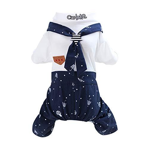 Tangpan Marineblau Cosplay Pet Hund Baumwolle Rock Camp Kleidung, S, Navy Male -