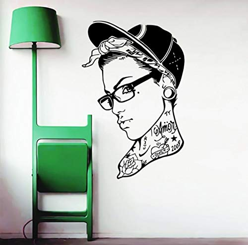 Woman In Hat Cool Handsome Wall Stickers Home Livingroom Creative Special Decoration Vinyl Wall Decals Mural 45x69cm