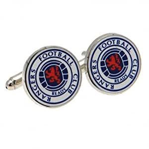 Rangers Fc Coloured Crest Cufflinks