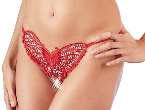 Damen Schmetterling String Tanga Rot S-L Mandy mystery Line Rot