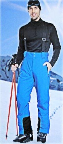 CRIVIT Herren Skihose mit Hosenträgern, hochfunktionell, Blau, Größe 52 (Herren Mit Für Skihose Hosenträgern)
