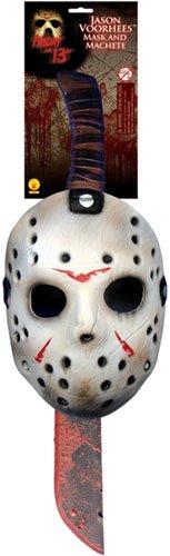 Freitag der 13. Jason Voorhees Set Maske Machete