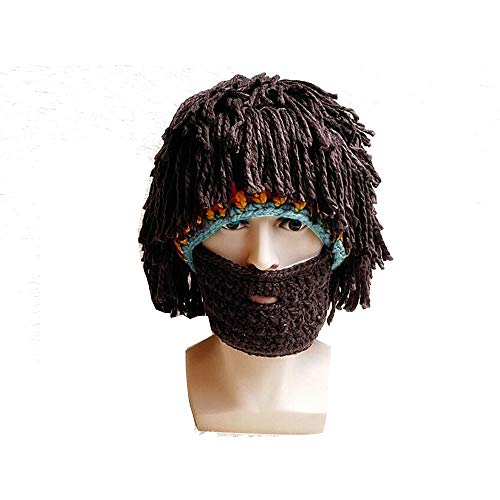 MerssavoStrickmütze Cosplay Beanie Masken Perücke Bart Hüte Weihnachtsgeschenke Ski Cap ?Form 3 ?