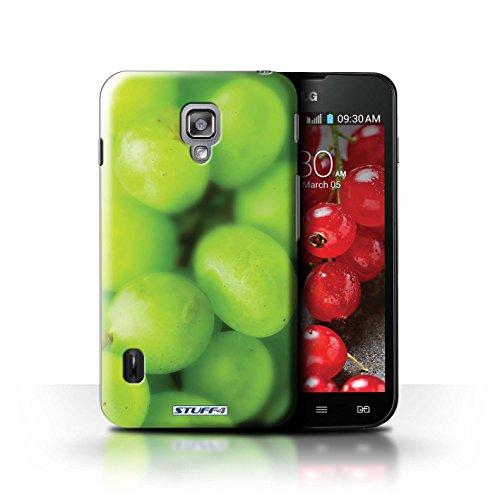 Kobalt® Imprimé Etui / Coque pour LG Optimus L7 II Dual / Orange / Peau conception / Série Fruits Raisin