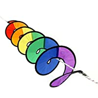 Rainbow Wind Spinner Tent Garden Outdoor Lawn Decoration Nylon Colorful