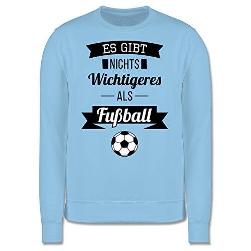 Fußball - Es gibt nichts Wichtigeres als Fußball - Herren Premium Pullover Hellblau