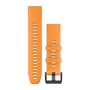 Garmin 010-12740-04 Quickfit 22 Uhrenarmband – Solar Flare Orange Silikon – Zubehör Band für Fenix 5 Plus/Fenix 5