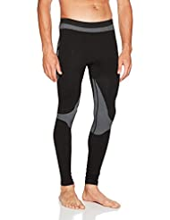 Hummel Sport Calzoncillos largos–First Comfort Long Tights–Pantalón de chándal para hombre Gran Libertad de movimientos–Función Pantalones transpirable en negro de gris–Base Layer, todo el año, hombre, color negro, tamaño XL/XXL