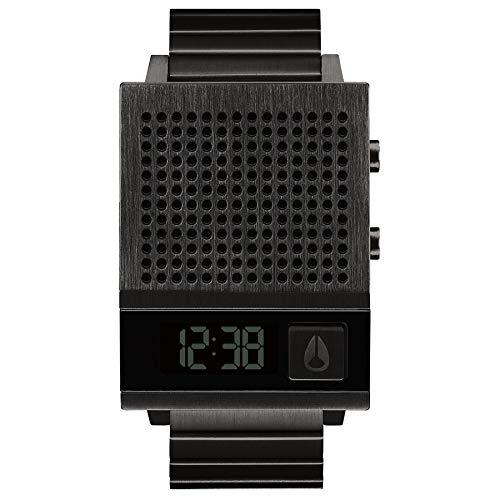 Nixon Herren Digital Uhr mit Edelstahl Armband A1266-001-00
