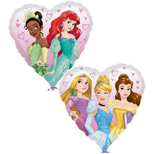 PICCOLI MONELLI Globo Princesa en Forma de corazón 1 Pieza de Helio 43 cm