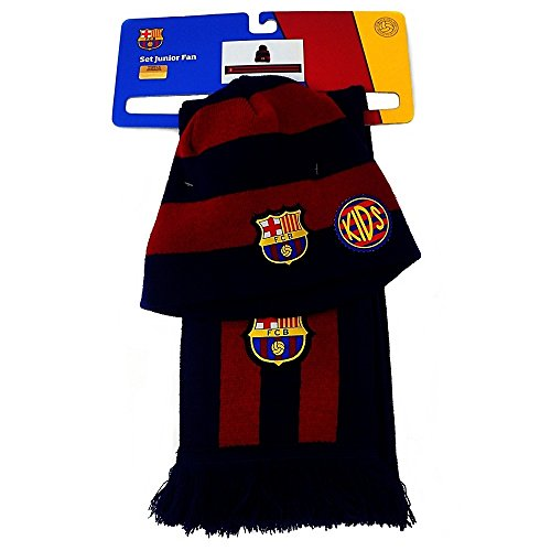 Set conjunto F.C. Barcelona bufanda gorro junior [AB4874]