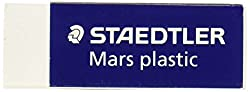 Staedtler Mars Latex-free Eraser, White, 1 Pack (Std52650)