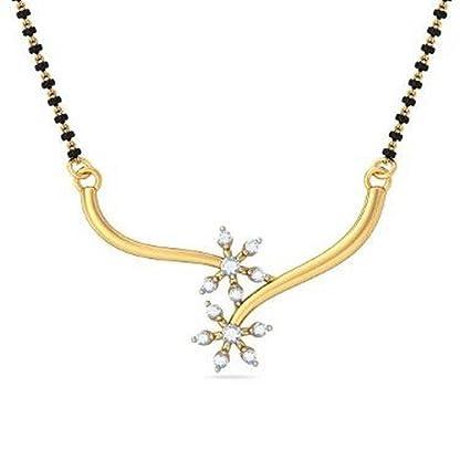 BlueStone 18K Yellow Gold and Diamond Studded Tanmaniya