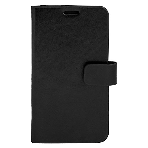 Zocardo Faux Leather Universal Diary Flip Cover Case with Inner Pocket for Micromax Canvas Spark 3 Q385 - Black