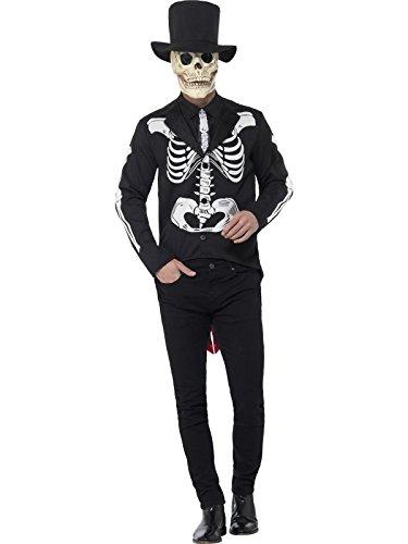 Smiffy' s–Costume scheletro del giorno dei morti 44656L uomo (grande)