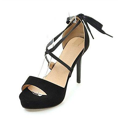 Sandales femmes chaussures printemps été Club Nouveauté Confort supports personnalisés de mariage robe en simili cuir talon aiguille décontracté en plein air Black