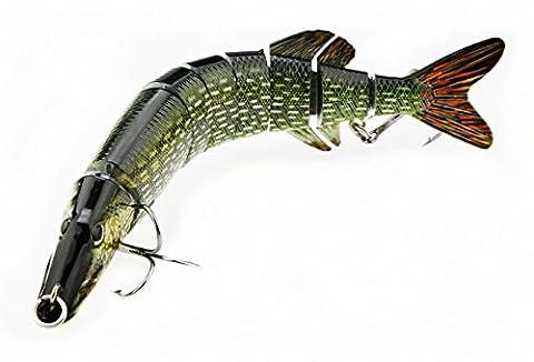 A-szcxtop 20cm 67g Multi jointé Leurres de pêche 8segments Swimbait réaliste dur Bait avec crochet solide énorme Leurre