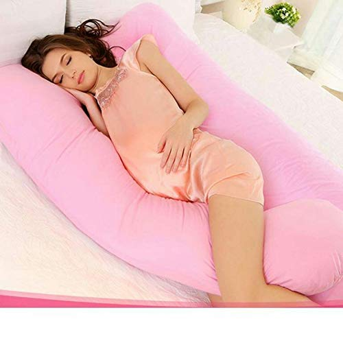 Pridhi Pregnancy Pillow C Shape Maternity Pillow (Baby Pink)