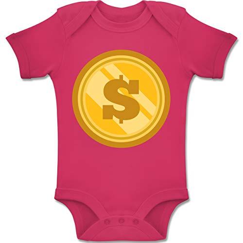 7912197ebe Shirtracer Karneval und Fasching Baby - Münze Kostüm - 1-3 Monate - Fuchsia  -