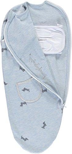 Puckababy® PIEP - Pucksack Baby mit Bauchband - 0/3 M | Blue Pucky | Pucksäcke | Swaddle