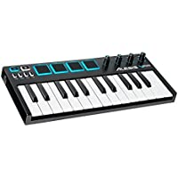 Alesis V Mini, Portable 25-Key USB-MIDI Controller with 4 Backlit Sensitive Pads and Controls + Xpand!2 Software Included