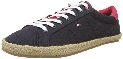 Tommy Hilfiger Herren Textile Lace up Espadrille Sneaker, Blau (Midnight 403), 43 EU