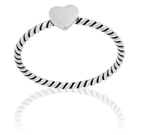 DTPsilver - Damen - Ring 925 Sterling Silber Herz (Spiral-ringe Sterling Silber)