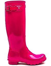 Hunter Orignal Tall Bright Cerise Gloss Womens Wellington Boots