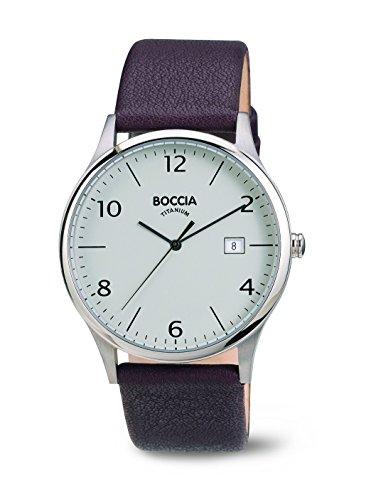Boccia - 3585-02 - Montre Homme - Quartz - Analogique - Bracelet Cuir Marron