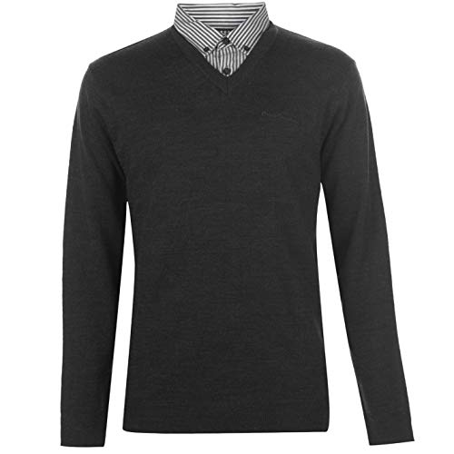 Pierre Cardin Pull en tricot avec col en V pour homme -...