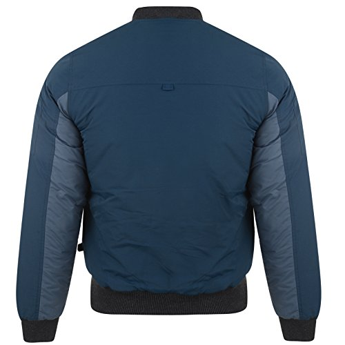Gilet Hommes Bellfield Neuf Bomber Rembourré Classique Militaire Flight Harrington Manteau Bleu Marine