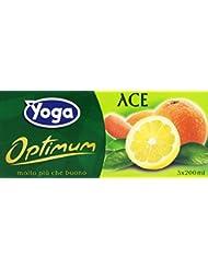 Yoga Optimum Bevanda Analcolica a Base di Succo di Arancia, Carota e Limone con Fibre e Vitamine - Pacco da 3 x 200 ml