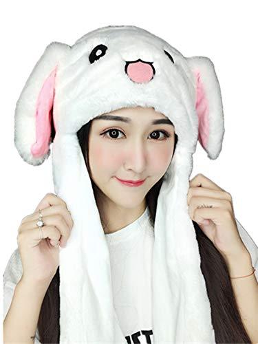 hren-Kaninchen-Hut Plüsch Bunny Ohren Stirnband Tier Cosplay Kaninchen Lustige Plüsch-Häschen-Hut-Kappe mit Den Halloween Ostern Lustige mit Den für Mädchen (A, EIN GRÖSSE) ()