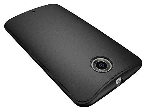 Diztronic NX6-VOY-BLK Vollmatte Ultra TPU Schutzhülle für Motorola Nexus 6 schwarz Full Matte Black