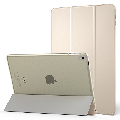 Foto MoKo Case per Apple iPad Pro 9.7 - Ultra Sottile Leggero Custodia con Retro Semi-trasparente Rigido, Oro