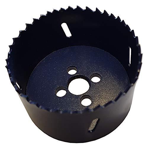 HSS Bi-Metall Lochsäge 48mm Bohrkrone Durchmesser 4,8cm Lochbohrer Dosenbohrer Lochfräser Bimetall Hartmetall Trockenbau Metall Holz Kunststoff Aluminium Rundlochschneider Kreisschneider Bohrer