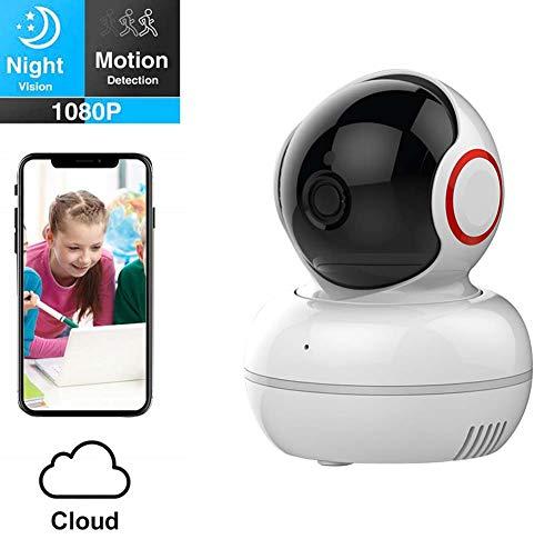 ZWW Intelligente Haustierkamera, drehbare HD-Nachtsicht der Wannen-Neigung des drahtlosen Hauptmonitors 1080P für Babyhaustierältere