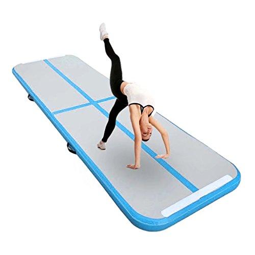 Aufblasbar Gymnastik Tumbling Matte Air Track Weichbodenmatte für Zuhause, Cheerleading, Strand, Park und Wasser-inklusive Steuer (118