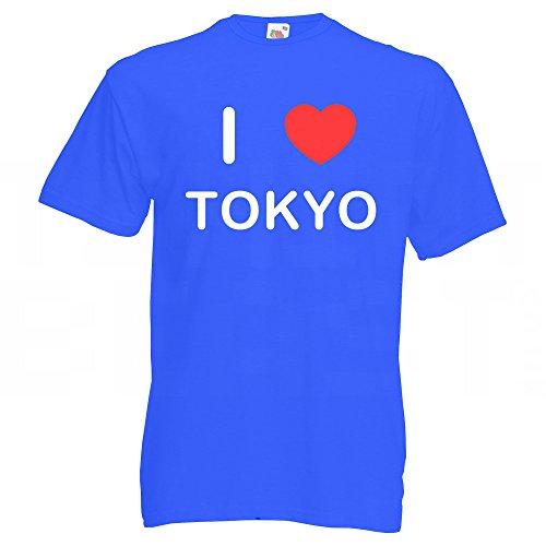 I Love Tokyo - T Shirt Blau