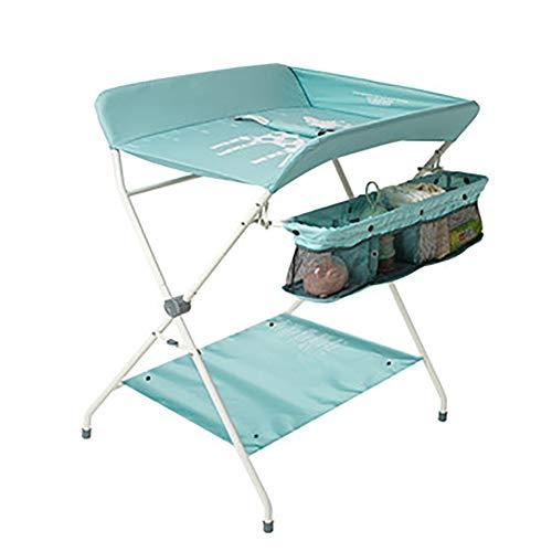 Tables à langer pour Bébé pour Bébé Nouveau-né Massage Massage Touch Table De Bain Pliage Multifonction (Couleur : Bleu)