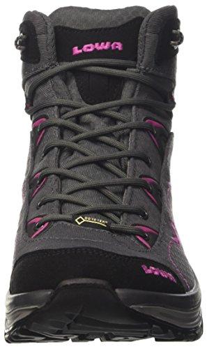 Lowa Ferrox Gtx Mid Ws, Stivali da Escursionismo Donna Grigio (Anthrazit/Beere)