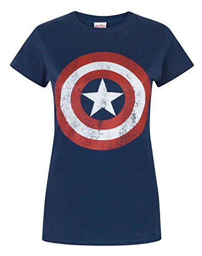Captain america Distressed Logo Women's T-Shirt (XL)