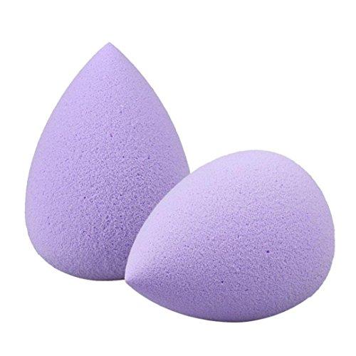 Tonsee 2 Pcs Eau Gouttelettes Douce Beauté Maquillage éponge (Violet)