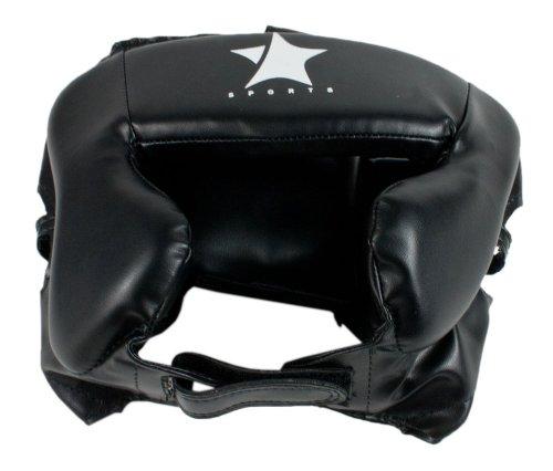 Starlite Boxen und Muay MMA UFC Thai Kopfschutz PVC Schwarz